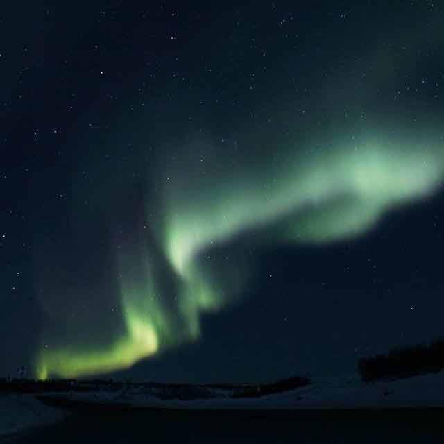 zorza polarna w Murmańsku, Syberia