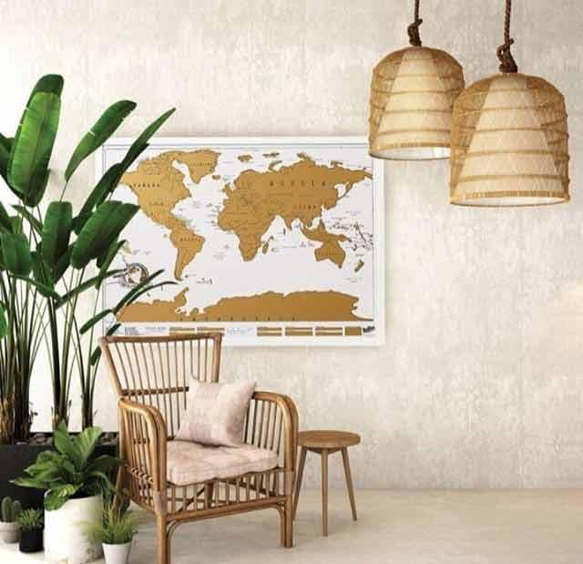 Duża mapa świata na ścianę