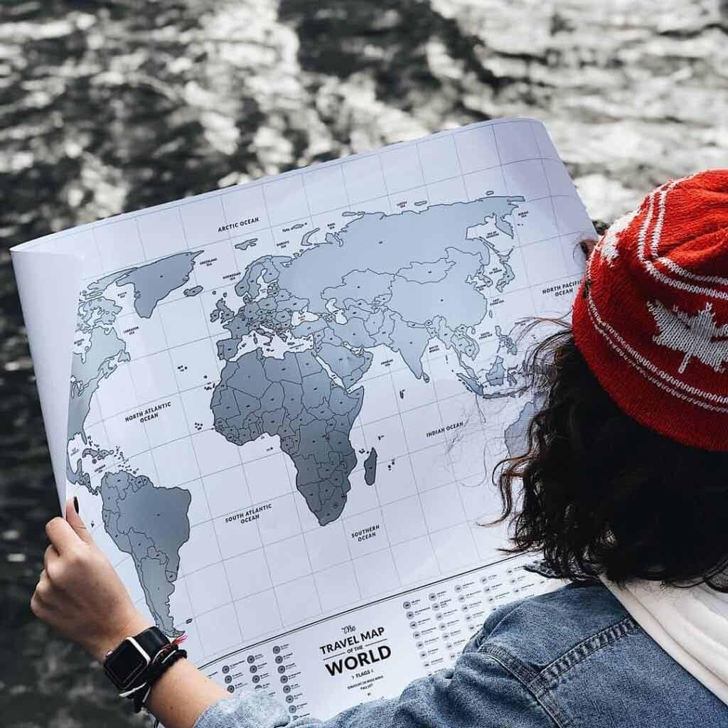 Mapa Świata na ścianę zdrapka