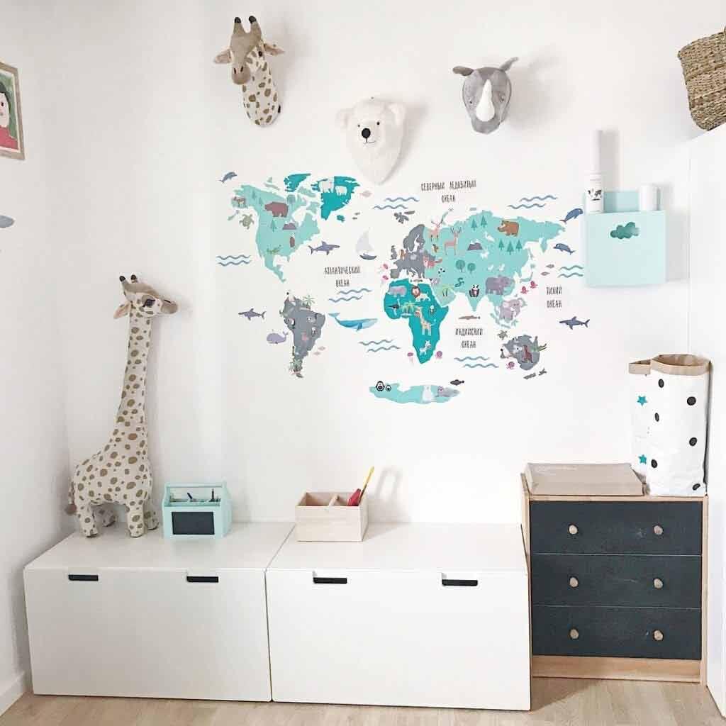 Mapa świata dla dzieci