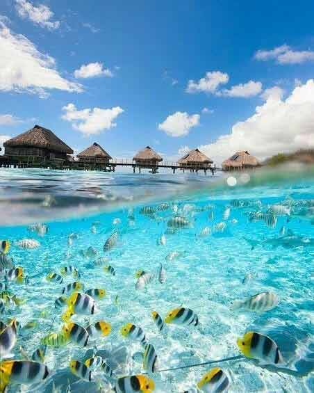 Domki na Malediwach