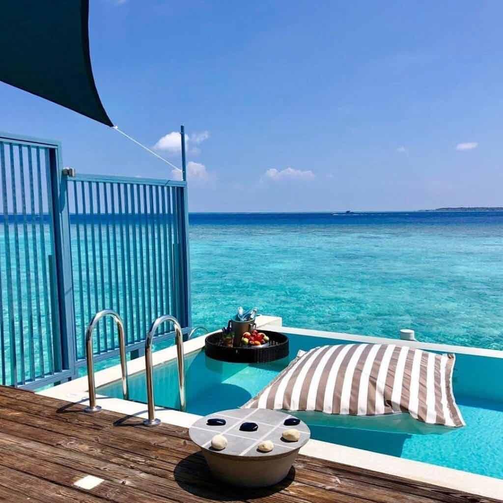 Domki na wodzie Malediwy