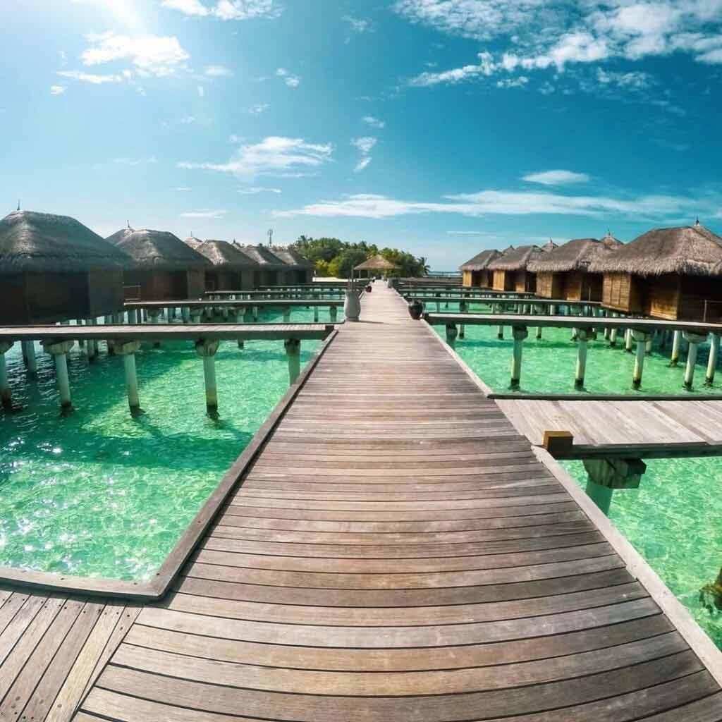 Malediwy domki na wodzie